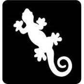 šablona za izradu airbrush ili glitter privremene tetovaže GEKON (paket od 5 kom)