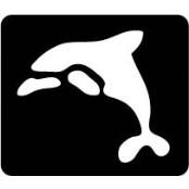 šablona za izradu airbrush ili glitter privremene tetovaže DELFIN (paket od 5 kom)