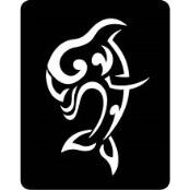 šablona za izradu airbrush ili glitter privremene tetovaže DELFIN 2 (paket od 5 kom)
