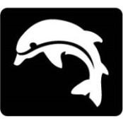 šablona za izradu airbrush ili glitter privremene tetovaže DELFIN 3 (paket od 5 kom)