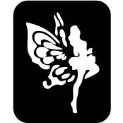 šablona za izradu airbrush ili glitter privremene tetovaže VILA 3 (paket od 5 kom)
