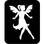 šablona za izradu airbrush ili glitter privremene tetovaže VILA 7 (paket od 5 kom)