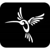 šablona za izradu airbrush ili glitter privremene tetovaže KOLIBRI 1 (paket od 5 kom)