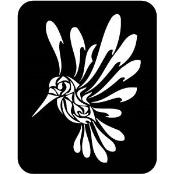 šablona za izradu airbrush ili glitter privremene tetovaže KOLIBRI 3 (paket od 5 kom)