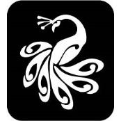 šablona za izradu airbrush ili glitter privremene tetovaže PAUN 1 (paket od 5 kom)