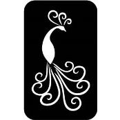 šablona za izradu airbrush ili glitter privremene tetovaže PAUN 2 (paket od 5 kom)