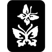 šablona za izradu airbrush ili glitter privremene tetovaže LEPTIRI 1 (paket od 5 kom)