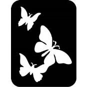 šablona za izradu airbrush ili glitter privremene tetovaže LEPTIRI 2 (paket od 5 kom)