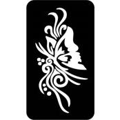 šablona za izradu airbrush ili glitter privremene tetovaže LEPTIR VELIKI 1 (1 kom)