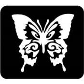 šablona za izradu airbrush ili glitter privremene tetovaže LEPTIR VELIKI 2 (paket od 5 kom)