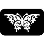 šablona za izradu airbrush ili glitter privremene tetovaže LEPTIR 3 (paket od 5 kom)