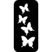 šablona za izradu airbrush ili glitter privremene tetovaže LEPTIRI 3 (paket od 5 kom)