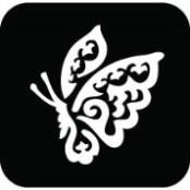 šablona za izradu airbrush ili glitter privremene tetovaže LEPTIR 4 (paket od 5 kom)