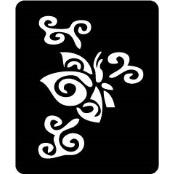 šablona za izradu airbrush ili glitter privremene tetovaže LEPTIR 5 (paket od 5 kom)