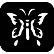 šablona za izradu airbrush ili glitter privremene tetovaže LEPTIR 6 (paket od 5 kom)
