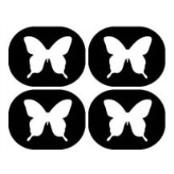 šablona za izradu airbrush ili glitter privremene tetovaže LEPTIR MALI 2 (paket od 20 kom)