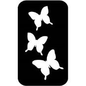 šablona za izradu airbrush ili glitter privremene tetovaže LEPTIRI 4 (paket od 5 kom)