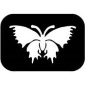 šablona za izradu airbrush ili glitter privremene tetovaže LEPTIR 8 (paket od 5 kom)