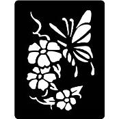 šablona za izradu airbrush ili glitter privremene tetovaže LEPTIR VELIKI 3 (1 kom)