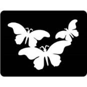 šablona za izradu airbrush ili glitter privremene tetovaže LEPTIRI 5 (paket od 5 kom)