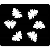 šablona za izradu airbrush ili glitter privremene tetovaže LEPTIRI 6 (paket od 5 kom)