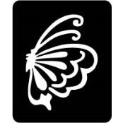 šablona za izradu airbrush ili glitter privremene tetovaže LEPTIR 9 (paket od 5 kom)