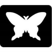 šablona za izradu airbrush ili glitter privremene tetovaže LEPTIR 10 (paket od 5 kom)