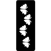 šablona za izradu airbrush ili glitter privremene tetovaže LEPTIRI 7 (paket od 5 kom)