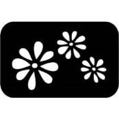 šablona za izradu airbrush ili glitter privremene tetovaže RUZA 1 (paket od 5 kom)