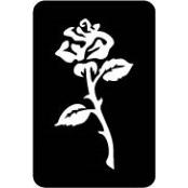 šablona za izradu airbrush ili glitter privremene tetovaže RUZA 2 (paket od 5 kom)