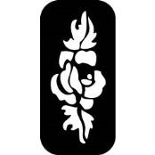 šablona za izradu airbrush ili glitter privremene tetovaže RUZA 3 (paket od 5 kom)