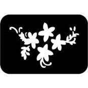 šablona za izradu airbrush ili glitter privremene tetovaže RUZA 4 (paket od 5 kom)