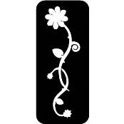 šablona za izradu airbrush ili glitter privremene tetovaže RUZA 13 (paket od 5 kom)