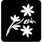 šablona za izradu airbrush ili glitter privremene tetovaže RUZA 14 (paket od 5 kom)