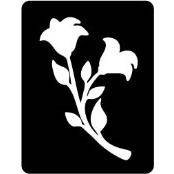 šablona za izradu airbrush ili glitter privremene tetovaže RUZA 17 (paket od 5 kom)