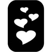 šablona za izradu airbrush ili glitter privremene tetovaže SRCA (paket od 5 kom)