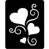 šablona za izradu airbrush ili glitter privremene tetovaže SRCE SA UKRASIMA (paket od 5 kom)