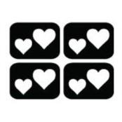 šablona za izradu airbrush ili glitter privremene tetovaže SRCA MINI (paket od 20 kom)