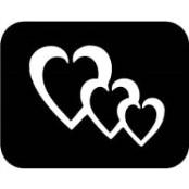 šablona za izradu airbrush ili glitter privremene tetovaže TRI SRCA 1 (paket od 5 kom)