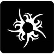 šablona za izradu airbrush ili glitter privremene tetovaže SUNCE MALO TRIBAL (paket od 5 kom)
