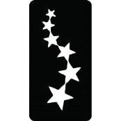 šablona za izradu airbrush ili glitter privremene tetovaže ZVIJEZDICE 1 (paket od 5 kom)