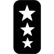 šablona za izradu airbrush ili glitter privremene tetovaže ZVIJEZDICE 2 (paket od 5 kom)