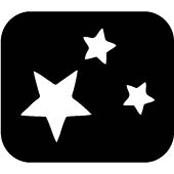 šablona za izradu airbrush ili glitter privremene tetovaže ZVIJEZDICE 4 (paket od 5 kom)