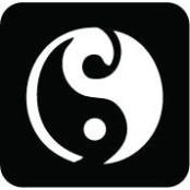 šablona za izradu airbrush ili glitter privremene tetovaže YIN YANG (paket od 5 kom)