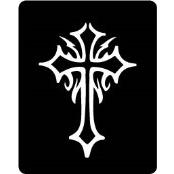 šablona za izradu airbrush ili glitter privremene tetovaže KRIŽ (paket od 5 kom)