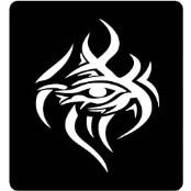šablona za izradu airbrush ili glitter privremene tetovaže EYE OF HORUS TRIBAL (paket od 5 kom)