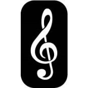 šablona za izradu airbrush ili glitter privremene tetovaže VIOLINSKI KLJUČ (paket od 5 kom)