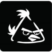 šablona za izradu airbrush ili glitter privremene tetovaže ANGRY BIRDS 1 (paket od 5 kom)