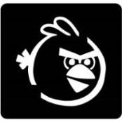 šablona za izradu airbrush ili glitter privremene tetovaže ANGRY BIRDS 2 (paket od 5 kom)