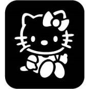 šablona za izradu airbrush ili glitter privremene tetovaže HELLO KITTY (paket od 5 kom)